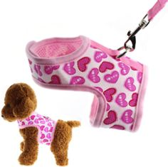 Wiz BBQT Bright Mesh Heart Printed Dog Cat Pet Vest Harness and Matching Leash Set in Pink for Tiny Newborn Dogs Cats Chest Girth) *** For more information, visit image link. (This is an affiliate link)Size: The harness fits pets with CHEST GIRTH about to Newborn And Dog, Couture Cuir, Very Small Dogs, Large Dogs, Dog Coat Pattern, Cat Harness, Dog Clothes Patterns, Dog Dresses, Pet Clothes