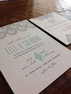 Letterpress wedding invitation suite now for sale on @Minted . Serene Jazz Age by Iron Range Artery. #artdeco #letterpress #wedding   http://www.minted.com/product/letterpress-wedding-invitations/MIN-BYI-LPI/serene-jazz-age