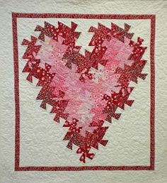 TWISTER QUILT PATTERNS | Heart pattern from quilt n sew website | Quilt Wall Hangings