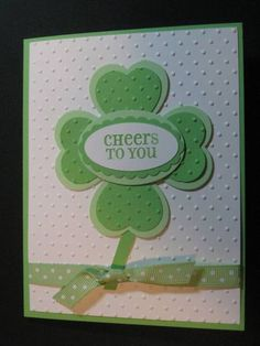 St. Patrick's Day Cheers Love this.