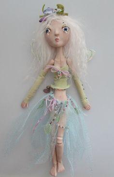 PORCELAIN Art Doll handmade jointed primitive by Kaeriefaerie52