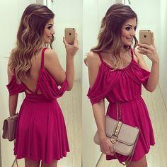 {Pink again} Vestido @lemisonline  (disponível para compra no site da loja meninas) | #lookdodia #dehoje #lookoftheday #ootd #selfie #blogtrendalert
