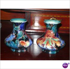 BURLEIGH WARE ART DECO LUSTER PAIR OF SMALL VASES Listing in the Art Deco,Decorative,Antiques Category on eBid United Kingdom