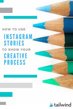 "Click on pin and read Tailwind's article, ""How to Use Instagram Stories to Share Your Creative Process.""  Has some excellent tips such as showcase your technical skills."