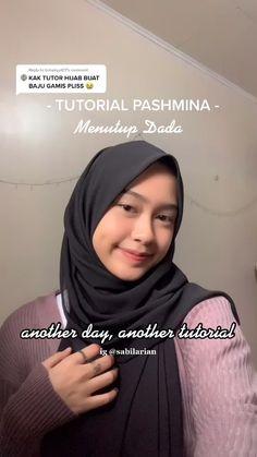 Simple Hijab Tutorial, Hijab Style Tutorial, Muslim Fashion, Hijab Fashion, Ootd Teen, Pashmina Hijab Tutorial, Stylish Hijab, Ootd Hijab, Head Accessories