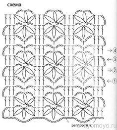 Схема вязания крючко