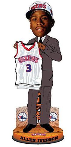 884546c224e NBA Philadelphia 76ers Iverson A 3 Legends 1 Draft Pick Bobble One Size  Blue --