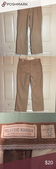 Old Navy Men Khakis Old Navy men Classic Khakis | W 33, L 32 | Minimal fading | Still has a lot of wears left. OBO Old Navy Pants Chinos & Khakis