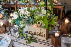 artichoke table - love this for a foodie themed wedding