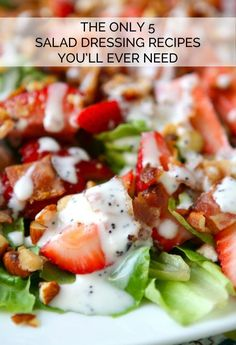 Whether you are trying to eat healthy, tired of boring salad, or just looking for your new favorite dressing, read on! eBay is sharing the ONLY five salad dressing recipes you will ever need. Best of all, they can be whipped up in a few minutes with ingredients you probably already have on hand!