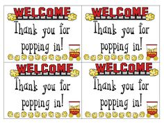 Thanks for Popping In! - cuter printable than the one I used last year