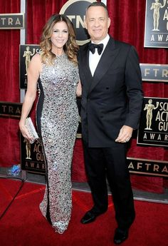 Rita Wilson and Tom Hanks #SAGAwards