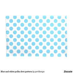 Blue and white polka dots pattern pillowcase