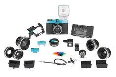 The idea behind the Lomography Diana F+ Deluxe Camera Kit is, why buy a slice, when you really want the whole pie! The Diana F+ Deluxe Kit features just about every Diana F+ accessory plus the mother