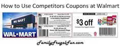 How to Use Competitors Coupons at Walmart