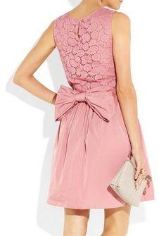 Nina Ricci Taffeta and lace dress