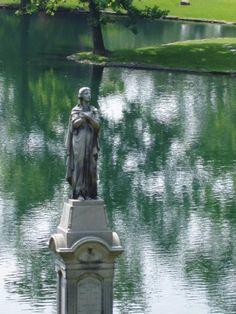 statue by pond Spring Grove Cemetery Cincinnati, Ohio
