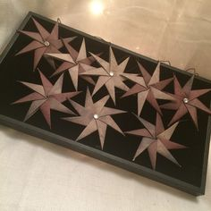 Set of 8 origami star ornaments