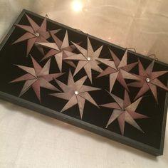Set of 8 origami star ornaments