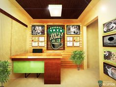 Architectural Rendering: Proposed TZM Receiving Area Interior Design
