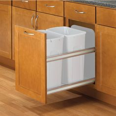 Kitchen Garbage Cans Pros Cons Of The Varieties Hidden - Trendy hidden kitchen trash cans