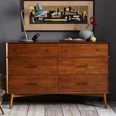 Mid-Century 6-Drawer Dresser #WestElm saw this in the store today and loved it. for bedroom. but low on priority list