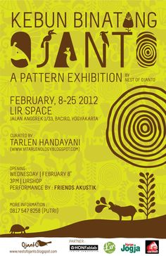 POSTER Nest of Ojanto first exhibition. A pattern exhibition. see www.nestofojanto.blogspot.com for more story. February 2012.