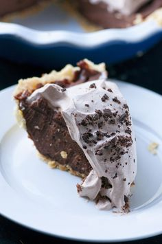Nutella Chocolate Cream Pie