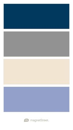 Navy, Classic Gray, Champagne, and Periwinkle Wedding Color Palette - custom color palette created at MagnetStreet.com