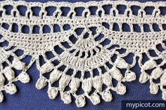Crochet Shell Popcorn Edging Tutorial - (mypicot)