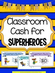 "This document contains classroom money or currency called ""Superhero Bucks"" to help encourage a positive community in your class with a fun superhero theme. Having a token economy is a great way to encourage all students to be on their best behavior and do their best."