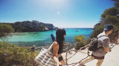 Cala Macarella Menorca, go pro Menorca, Gopro, Drawstring Backpack, Backpacks, Blog, Backpack, Blogging, Backpacker, Backpacking