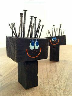Diy For Kids, Crafts For Kids, Arts And Crafts, Woodworking For Kids, Woodworking Projects, Junk Art, Camping Crafts, Photo On Wood, Fun At Work
