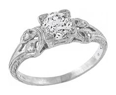 Antique 0.50ct Diamond Engagement Ring