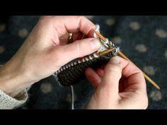 DOBBELTSTRIK Brug begge sider af strikketøjet - YouTube Knitting Stitches, Free Knitting, Knitting Patterns, Knitting Tutorials, Knit Crochet, Lisa, Fair Isles, Youtube, Kabinet