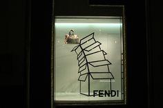 Fendi windows, Hong Kong visual merchandising