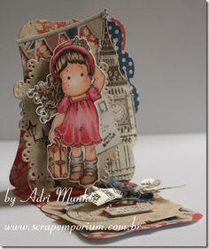 Cartão de Férias com Tilda on the loose em Londres
