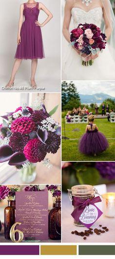 TBQP300 plum purple fall wedding color ideas and short plum purple tulle bridesmaid dress