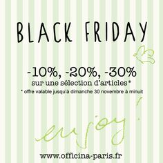 Black Friday ! -10%, -20%, -30% sur une sélection d'articles Balm Balm, Lily Lolo, Priti NYC, Nominoë, Unmei, Kneipp, Lavera. Enjoy! #promotion #blackfriday #balmbalm #lilylolo #lavera #kneipp #pritinyc #cosmetiquesbio #beautebio #naturel #vegan www.officina-paris.fr
