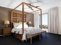 Bedroom Post Bed Frame, Ceiling Fan, Master Bedroom, Miniature, Bench, Homes, Building, Furniture, Ideas