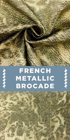 Gold Metallic French Leopard Print Brocade