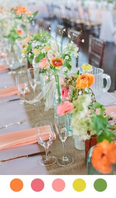 flowers at the table Flowers at My Table wedding colour palette.  scheming and dreaming inspiration inspiration board inspiration