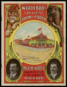 Wirth's Circus Melbourne Australia - Originally performing on the Southbank area.
