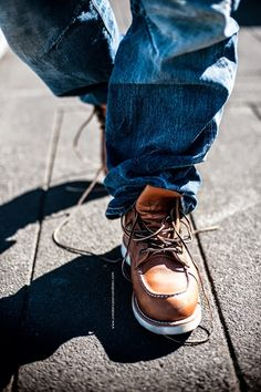 Prps, Red Wing, visvim and the rest. A style introduction Denim Fashion, Fashion Boots, Sneakers Fashion, Jeans And Sneakers, Jeans And Boots, Basket Rouge, Baskets, Mens Lace Up Boots, Red Wing Boots