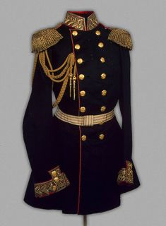 Uniform tunic belonged to Emperor Alexander II of Russia, circa 1855 Royal Fashion, Mens Fashion, Military Dresses, Vintage Military Uniforms, Vintage Outfits, Royal Clothing, Imperial Russia, Historical Clothing, Military Fashion