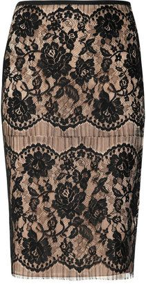 ShopStyle: Lanvin Lace and satin skirt