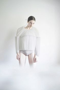Architectural Fashion with experimental 3D shape & gathered textures - structural fashion; wearable art // Matthew Harding