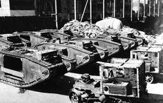 Disassembled tanks, Middle East, 1917 | Online Collection | National Army Museum, London