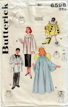 1950s Costume, Pattern Pictures, Costume Patterns, Retro Illustration, Fashion Catalogue, Vintage Sewing Patterns, Infants, Choir, Vintage Costumes