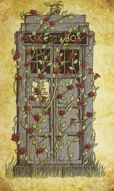 TARDIS & roses!? too much pretty